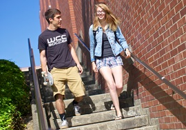 Get Started_Students walking stairs